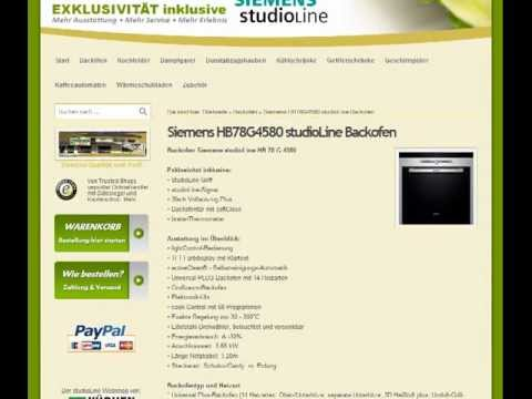 Siemens HB78G4580 studioLine Backofen schnell und einfach finden bei kuechenblick.de