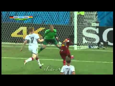 Germany vs Ghana Fifa world cup 2014 goal replays