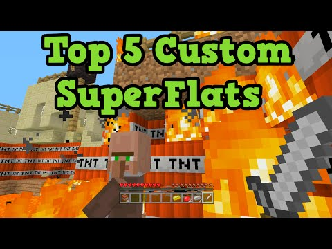 Minecraft Xbox 360 + PS3 Top 5 CRAZY CUSTOM SuperFlats - TU25