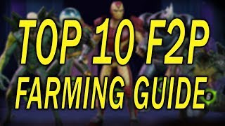 Top 10 Free To Play Farming Guide - MARVEL Strike Force - MSF