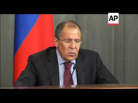 Lavrov says Russia does not recognise Libya's National Transitional Council