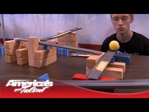 "Steve Price (aka ""Sprice"") Shows Off His Complex Rube Goldberg Machine - America s Got Talent"