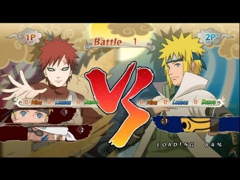 Naruto SUN Storm Generations - PS3 / X360 - Semifinal-1 'Jinchuriki' VS 'Duo of Fate'