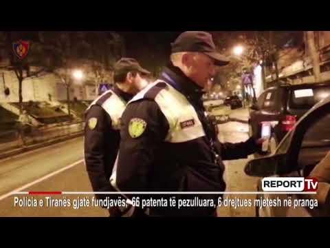 Report TV - Kontrolle të rrepta gjatë fundjavës, policia arreston 6 persona, heq 66 leje drejtimi