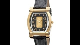 Croton CurrenC Gold Ingot Tonneau Case Watch