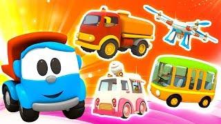 Coleção de desenhos animados.  Léo o caminhão curioso. Animação infantil.