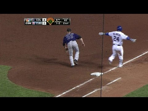 COL@CHC: Valbuena plates Coghlan with infield single