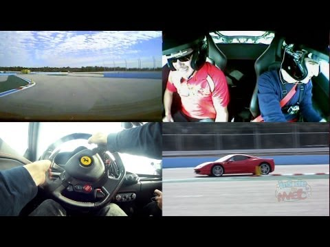 Ferrari laps at Exotic Driving Experience at Walt Disney World POV split screen