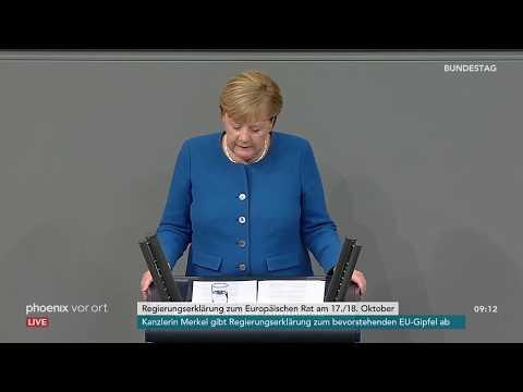 RegierungserklГrung von Bundeskanzlerin Angela Merkel CDU zum EuropГischen Rat am 17.10.19