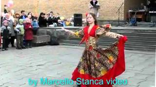Gipsy Russian Dance in the square