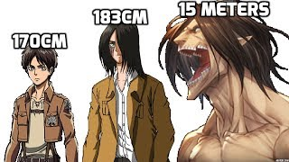 Attack On Titan All Characters Height Comparison