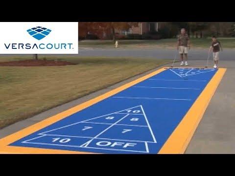 Outdoor Shuffleboard Court Shuffleboard Court by