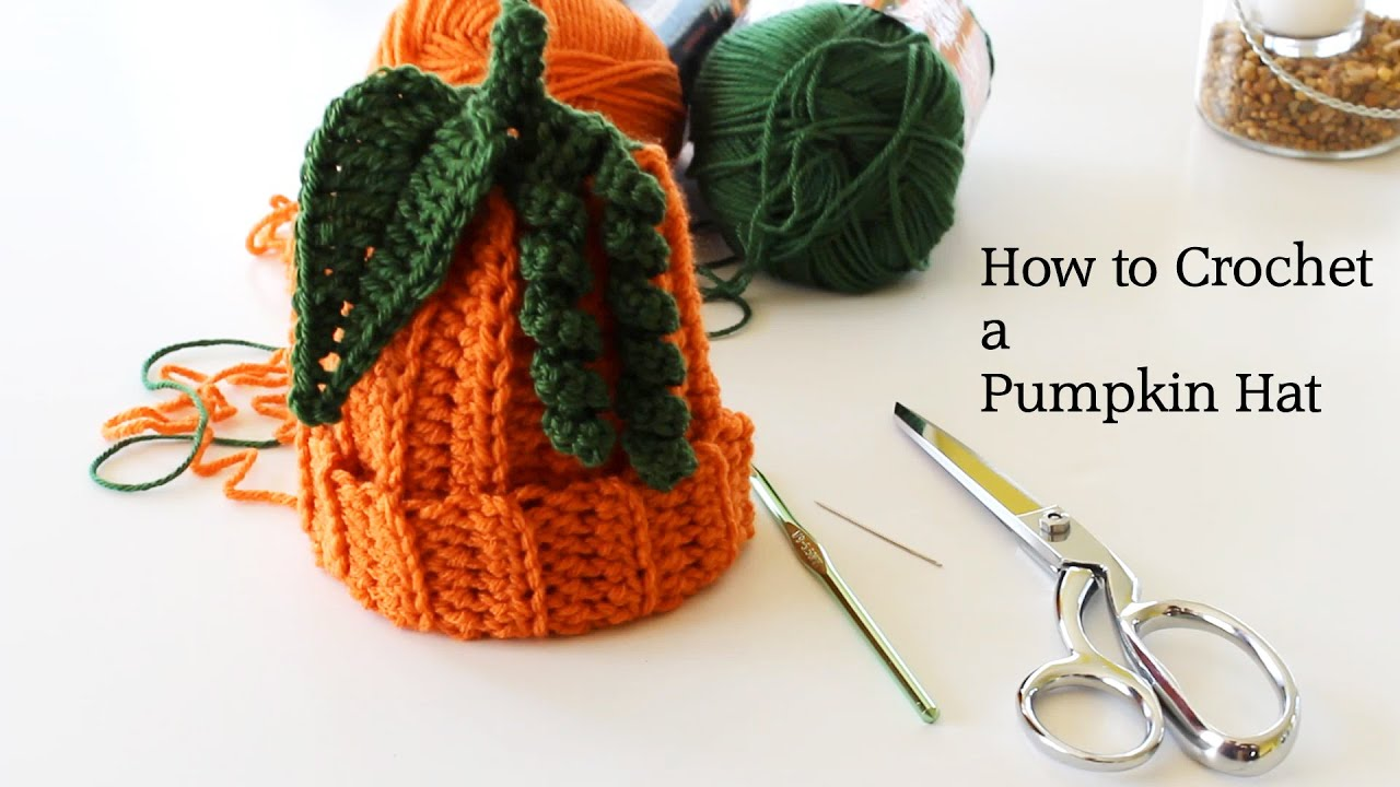 How To Crochet A Hat : How to Crochet a Pumpkin Hat - YouTube