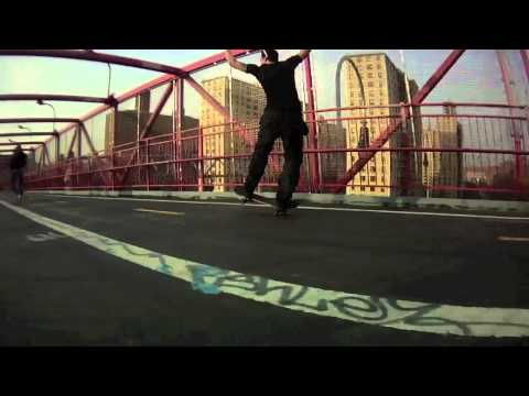 Get Die Rider James Soladay Bombing the Williamsburg Bridge