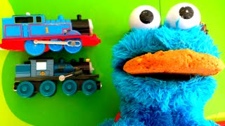 Cookie Monster with Thomas and Friends