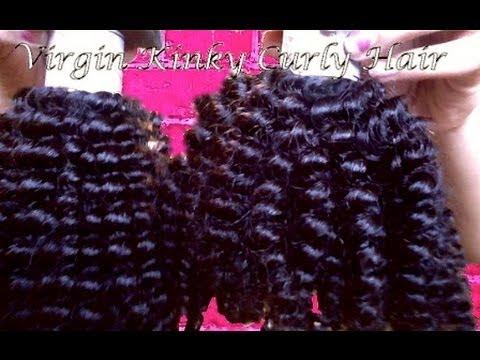 Unboxing of My Aliexpress Brazilian Kinky Curly Virgin Hair!