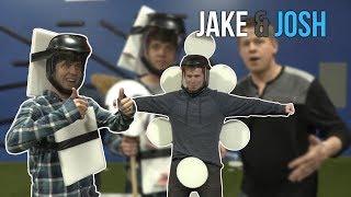 Juggling and Card Throwing Trick Shots *Ft. Jake and Josh   Rick Smith Jr.