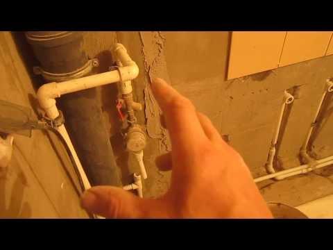 Разводка труб в ванной хрущевки