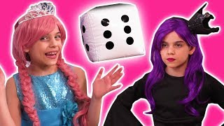 GIANT DICE PRANK 🎲 Princess Dares With Giant Surprise Eggs! - Princesses In Real Life | Kiddyzuzaa