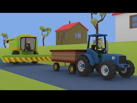 Tractor For Kids Combine-Harvester | Fairy tales - Maize | Farm Work | Bajki Dla Dzieci Traktory