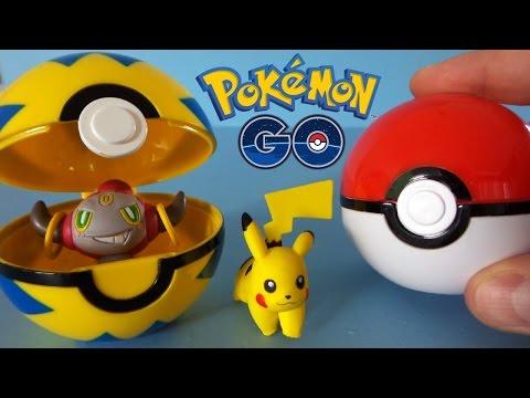 Pokemon GO покемоны игрушки обзор покебол