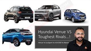 Hyundai Venue VS Ford Ecosport VS Tata Nexon VS Mahindra XUV300 | कोनसी एसयुवी बेस्ट हे? | Jay Dave