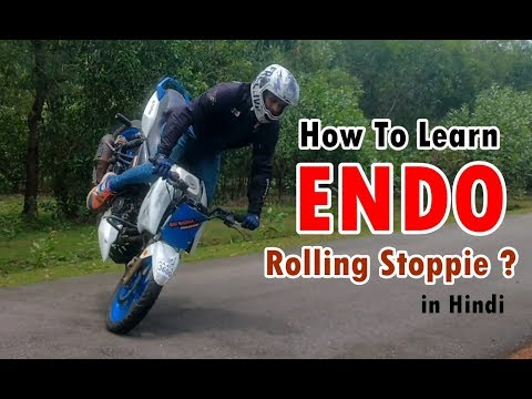 How to Learn Endo Rolling stoppie   Easy Bike Stunt tutorial in Hindi