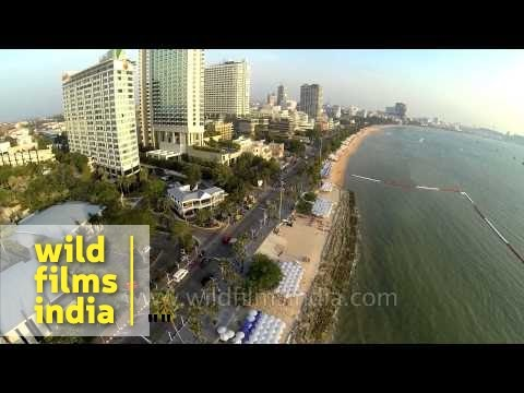 Aerial view of Pattaya beaches - Thailand