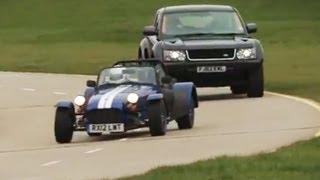 Land Rover Bowler EXR S v Caterham Seven Supersport race - autocar.co.uk