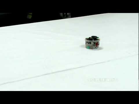 Car race demonstration: Two robots trace on their own trajectories.