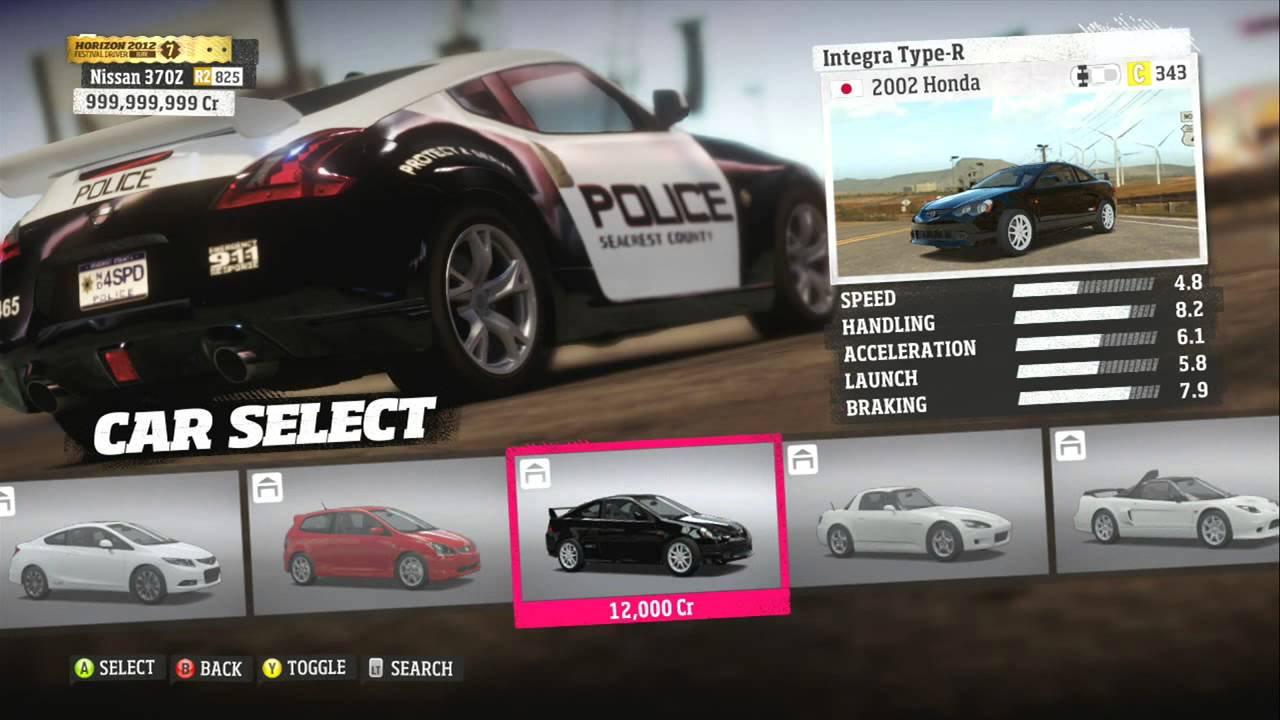Forza  Best Cars List