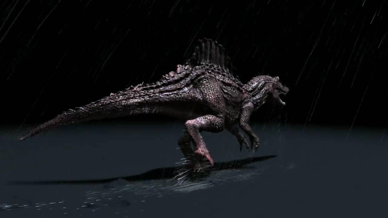 Spinosaurus Rainy Walk Cycle Youtube