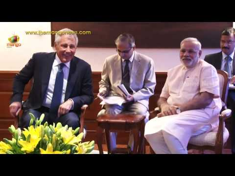 US Defence Secretary Chuck Hagel meets PM Narendra Modi