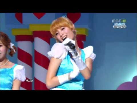 [hd] 101204 Orange Caramel - Aing 아잉 Live Eng+rom+hangul  Music Core video