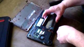 Removing a Hard Drive from a HP Mini Laptop