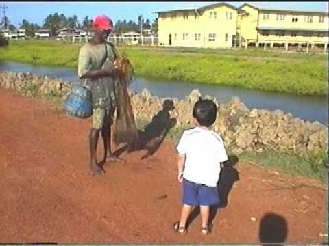 Castnet fishing   - Berbice, Guyana