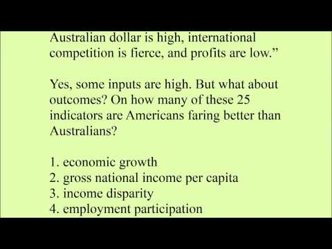 Comparing USA and Australia Economy