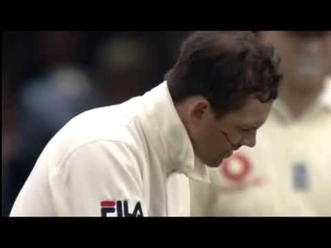 Steve Harmison, cuts Ricky Ponting, Blood runs down his face