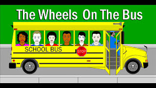 THE WHEELS ON THE BUS go round and round barney lyrics fun song Back To  school playlist