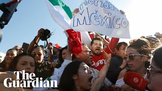 Mexicans protest against migrant caravan: