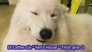 """Vlog6: Đi caffee cún """" Ken's House """". Cứu tui zới, sắp mất máu ùi 😍😍 - by YuMi Channel"""