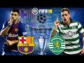 Download FIFA 18 | Barcelona vs Sporting | Champions League Group Stage 2017/18 | Prediction Gameplay in Mp3, Mp4 and 3GP