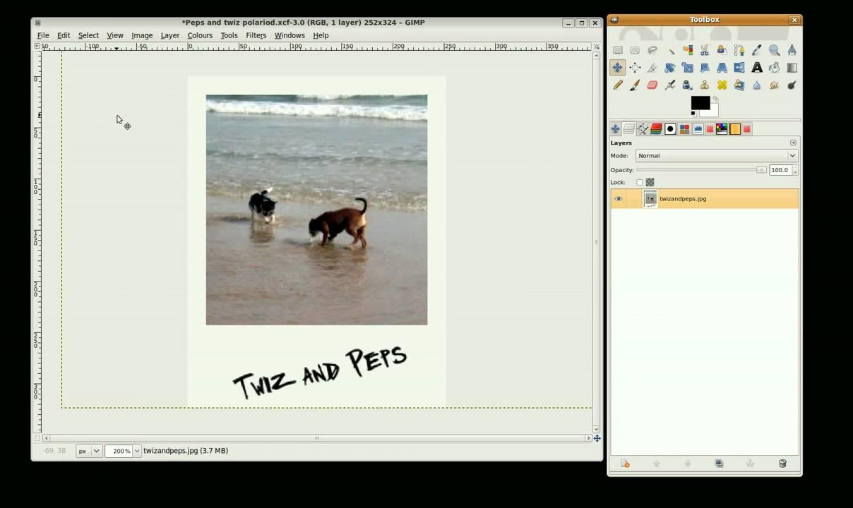 Gimp Tutorial Polaroid Photo Youtube