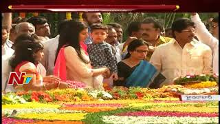 CM Chandrababu Naidu Family Members Pay Tribute To NTR At NTR Ghat