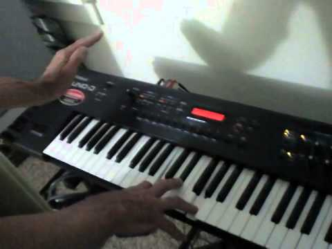 Roland Juno D synthesizer Tutorial instructional Demo of D beam operation