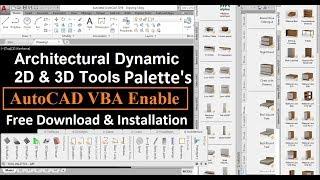 Architectural 2D3D Tool Palettes  AutoCAD VBA Enab
