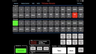 TriCaster Remote - Controlling a TriCaster with an iPad or Android Tablet