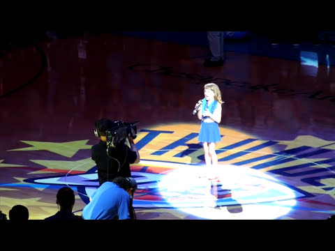 Olivia Kay Performs the National Anthem
