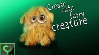 How to create cute furry creature in Photoshop | Photoshop tutorial