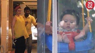 Soha Ali Khan Visits Brother Saif   Baby Taimur Steals Hearts Again While He Swings In His Balcony